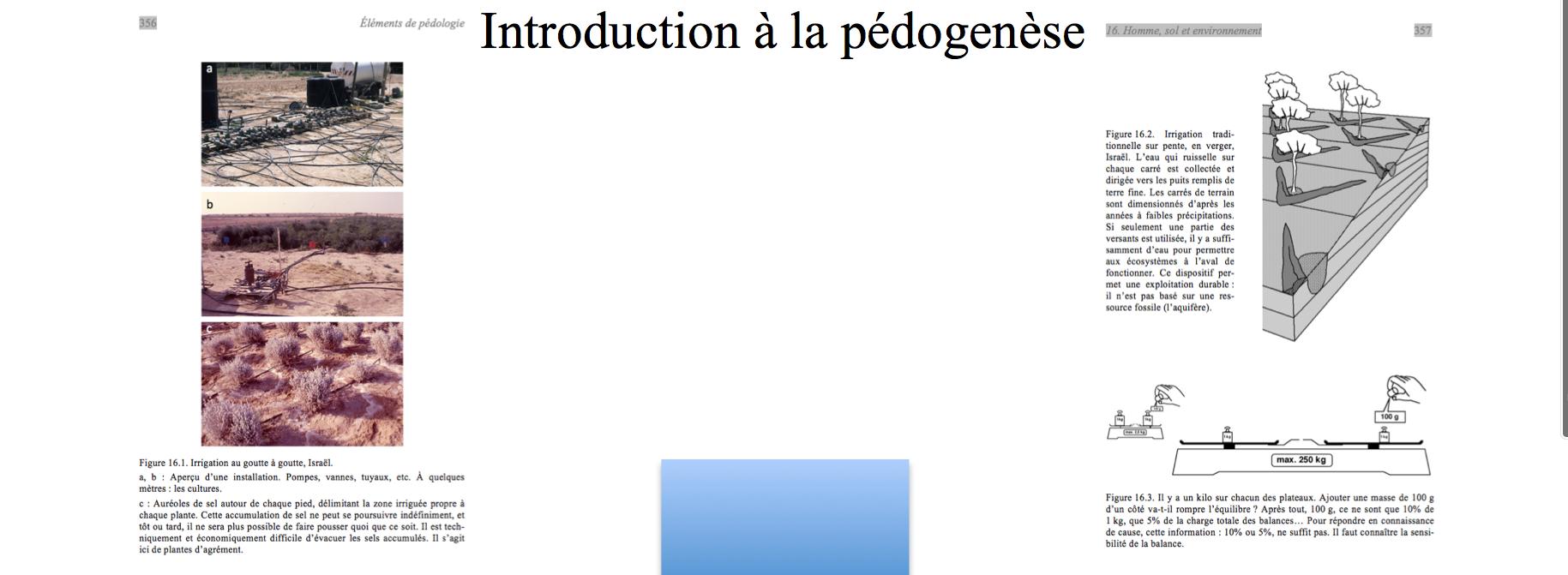 """""""Eléments de pédologie"""""""